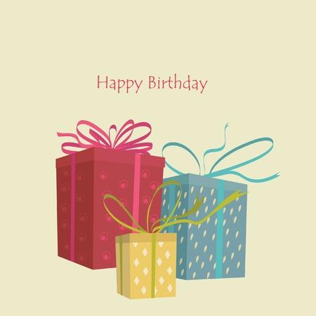 surprise box: birthday greeting Card