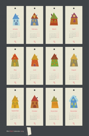 calendar 2014 Vector