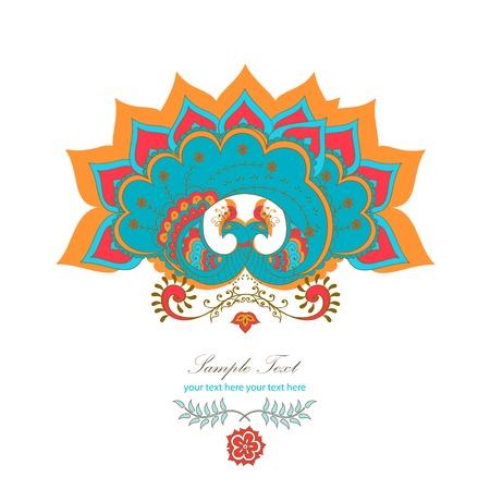 magic decorative hindu peacock Vector