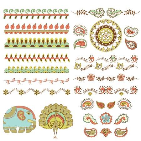 ヒンドゥー教の飾り  イラスト・ベクター素材