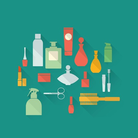 cosmetics icon set Illustration