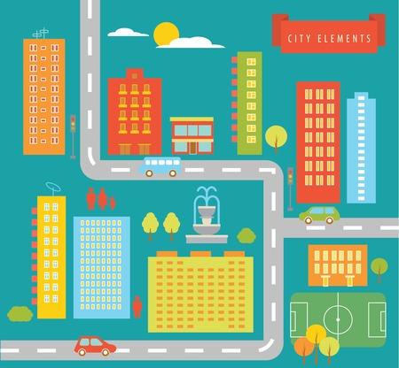 city elements Illustration