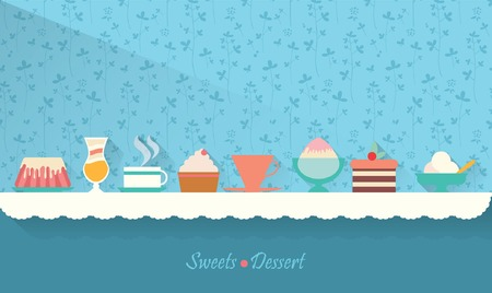 dessert stand: Sweets and dessert on the table