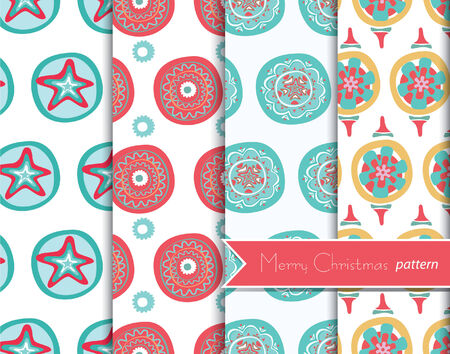 christmas decoration patterns Vector