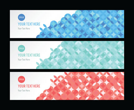 green and red business card geometric triangle pattern set