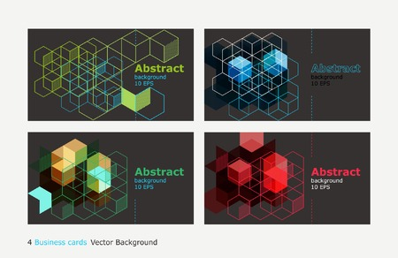 geometric Vector abstract background set business card