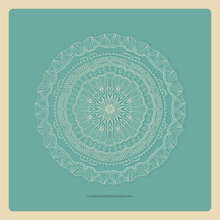 abstract vector decoration exotic round ornament snowflake