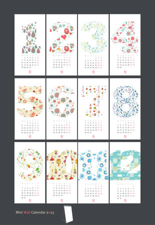 seasons of the year: holiday design Mini cute calendar seasons background