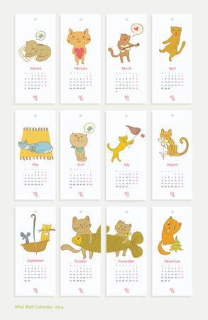holiday design Mini cute calendar seasons background