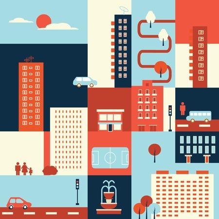 map city elements infographic icon set web