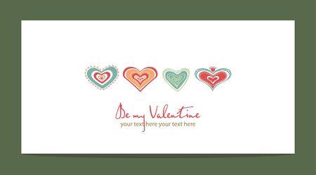 wedding day: heart pattern love, wedding valentine day vector illustration