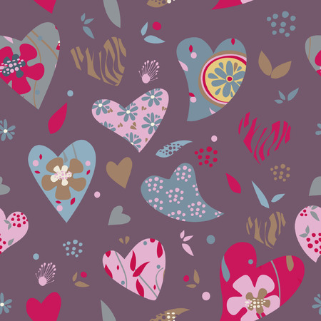 heart pattern love, wedding valentine day vector illustration