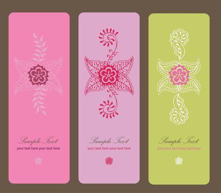 Hindy mehendi design magicfor decoration illustration design