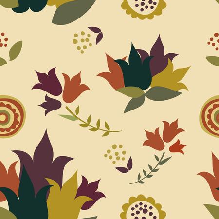 vintage wallpaper, retro flower texture decoration background Illustration