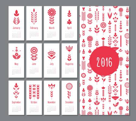 dates fruit: floral red geometric, flat calendar  holiday symbol