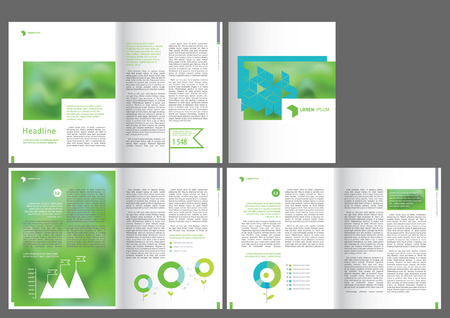 design  brochure template background book abstract annual