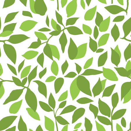 branches with leaves: color branches leaves seamless pattern  drawing texture Illustration