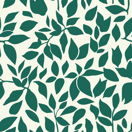 color branches leaves seamless pattern  drawing texture Illustration