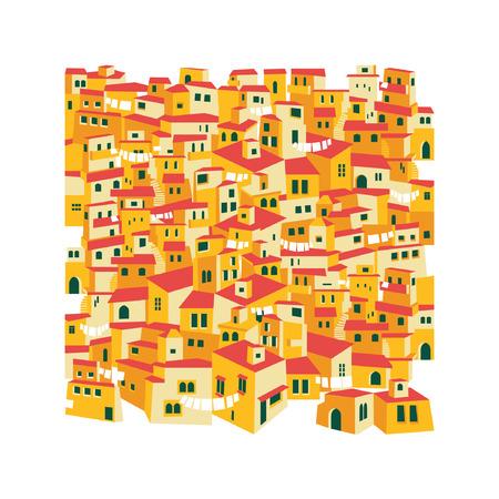 arabic traditional village, east, desert, tiled roofs