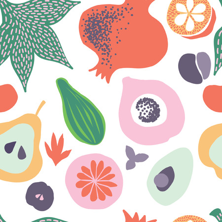 vegetables and fruits, seamless pattern, tablecloth