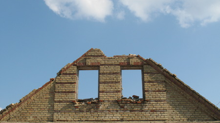 melancholy: Belarusian village. The abandoned houses. The beaten-out glasses in windows. melancholy