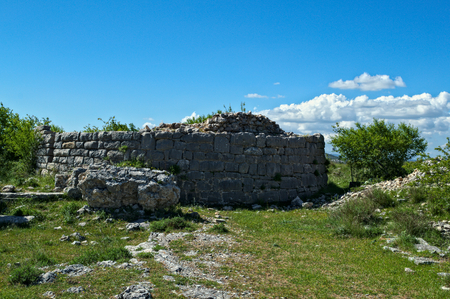 Remains of watch tower on Bribir fortress, Dalmatia