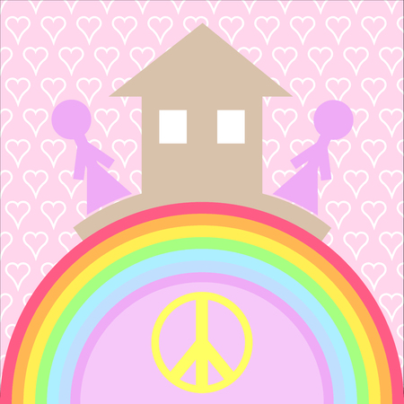 House and love the basis of  happiness. It is a symbol for your website design, logo, application user interface.