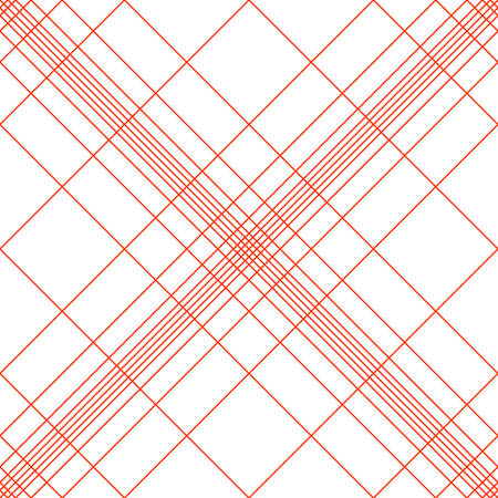 Cross-shaped seamless pattern of oblique red lines. Good background for the site about textiles, fabrics, tablecloths.