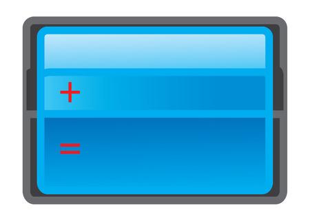 equals: blau Mathematik Tisch-Symbol - Vektor f�r Web-Grafiken