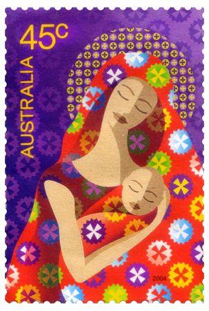 AUSTRALIA - CIRCA 20004 : A canceled Australian postage stamp  depicting christmas, circa 2004
