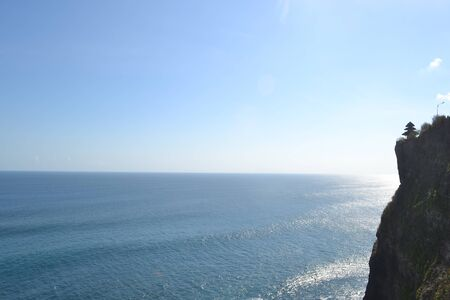 overseeing: At the top of mountain overseeing Uluwatu Temple