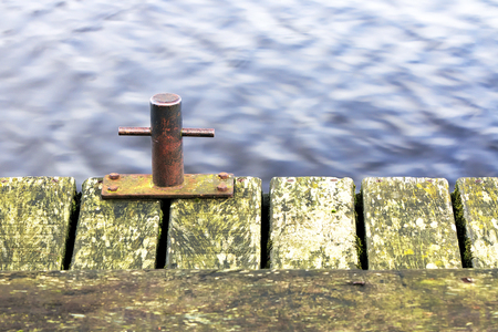 immobilize: Anchor on the pier margin Stock Photo