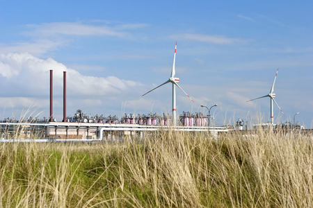 Gas storage facility and wind energy photo