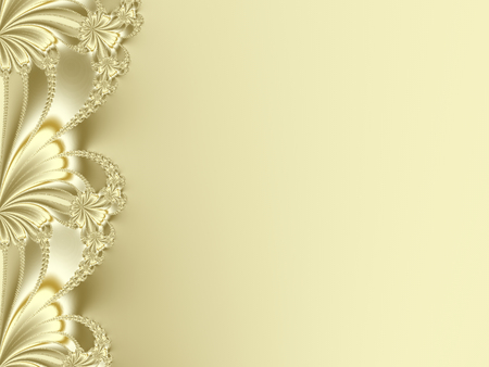 eg: Fancy fractal border in yellow or gold, resembling flower petals. Suitable e.g. for candy boxes designs, book covers, leaflets, cards, presentations, websites, banners or as a desktop wallpaper.