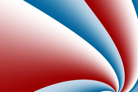 distort: A red and blue fractal background with curves resembling a pinwheel. Includes space for text. Suitable for layouts, web design, leaflets, book covers, presentations or as a desktop background.