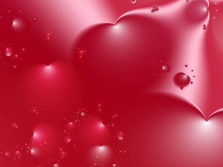 Red Valentine fractal with big hearts in various sizes and positions. Suitable for many creative Valentine or wedding designs or as a background for desktop, books, cards, presentations or websites.