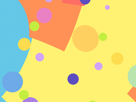 Simple playful fractal background with colorful shapes and circles. For fun children events, toys, birthday parties - invitations, posters, hats, prints, decorations, layouts, leaflets, templates.