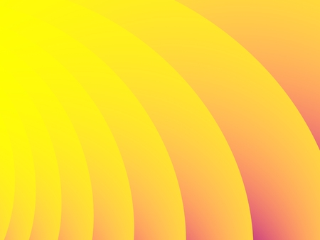 Optimistic yellow and orange abstract fractal background with curvy stripes and gradients. For creative designs, websites, banners, prints, book covers, stationery, posters, promotion, advertising.