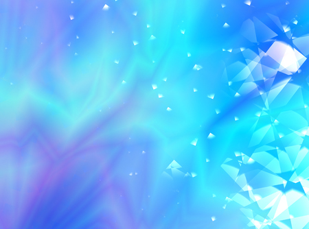 Blue and purple abstract fractal background with a random pattern and decorative glass effects. For various creative projects, prints, book covers, banners, skins, leaflets, pamphlets, stationery, ads