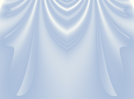 Soft light blue modern abstract fractal background illustration with stylized draping or curtains. Elegant creative template for wedding or fashion themed projects, layouts, designs, banners, flyers.