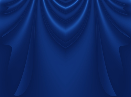 Deep blue modern abstract fractal background illustration with stylized draping or curtains. Dark smooth elegant creative template for fashion themed projects, layouts, designs, banners, skins, flyers