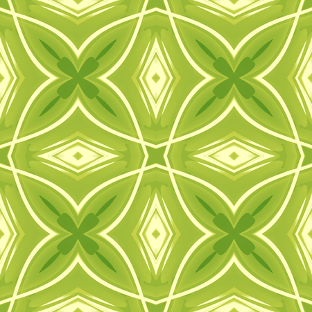 Green abstract texture. Background illustration with crossing lines. Seamless tile. Textile print pattern. Home decor fabric design sample. Tileable motif for pillows, cushions, tablecloths, drapes