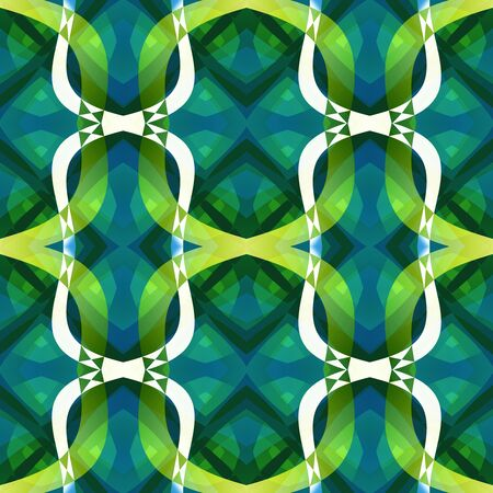 Green blue modern abstract texture. Detailed background illustration. Textile print pattern. Structured seamless tile. Home decor fabric design sample. Tileable motif for pillows, cushions, drapes Stock Photo
