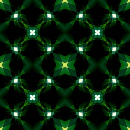 Black green modern abstract texture. Dark background illustration. Seamless tile. Home decor fabric design sample. Textile print pattern. Tileable motif for pillows, cushions, tablecloths, drapes Stock Photo