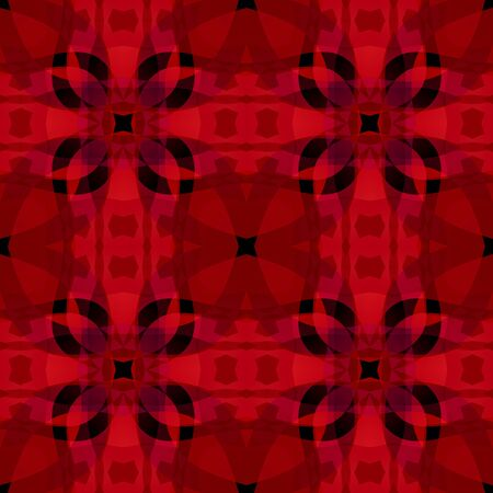Red black abstract texture. Detailed background illustration. Seamless tile. Textile print pattern. Home decor fabric design sample. Tileable motif for pillows, cushions, tablecloths, drapes, scarves Stock Photo