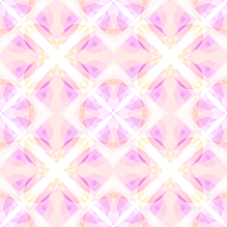 Light pink modern abstract texture. Detailed background illustration. Kaleidoscope effect. Seamless tile. Home decor fabric design sample. Textile print pattern. Tileable motif for pillows, cushions Stock Photo