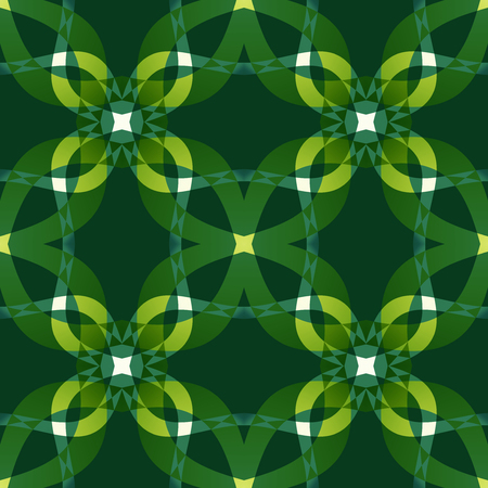 Green modern abstract texture. Seamless tile. Detailed background illustration. Textile print pattern. Home decor fabric design sample. Tileable motif for pillows, cushions, tablecloths, drapes, paper Stock Illustration - 91039589