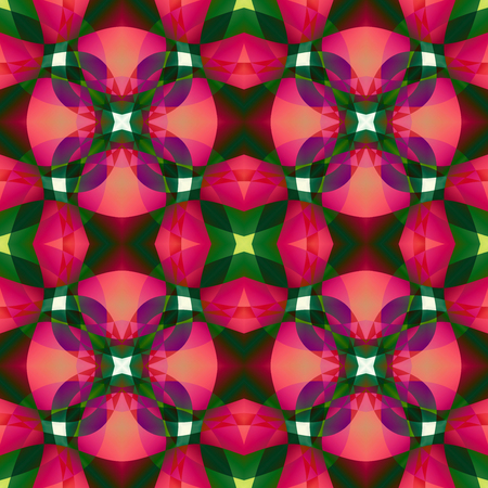 Pink green modern abstract texture. Detailed background illustration. Home decor fabric design sample. Tileable motif for pillows, cushions, tablecloths, drapes. Textile print pattern. Seamless tile.