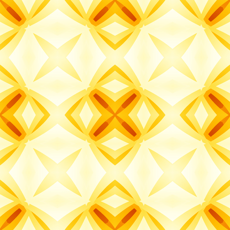Yellow orange red abstract texture. Bright seamless tile. Home decor fabric design sample. Optimistic and energetic background illustration. Textile print pattern. Motif for cushions, tablecloths