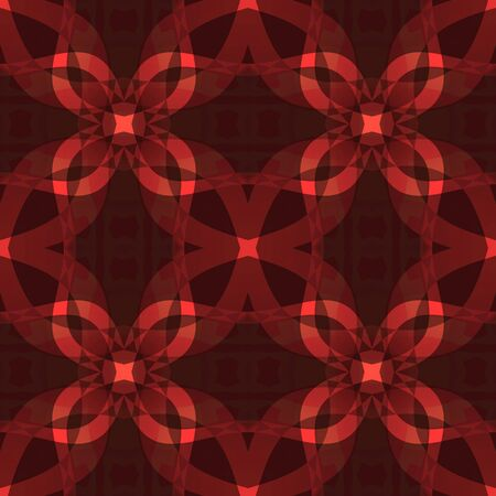 Dark red modern abstract texture. Seamless tile. Detailed background illustration. Textile print pattern. Home decor fabric design sample. Tileable motif for pillows, cushions, tablecloths, drapes Stock Illustration - 94248569